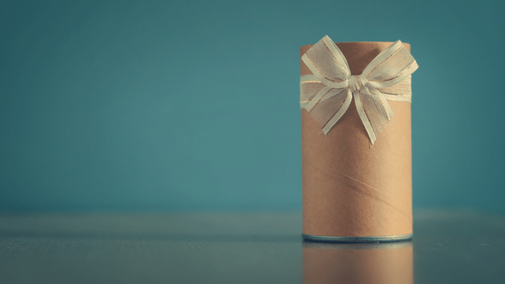 How to Wrap Cylinder Gifts